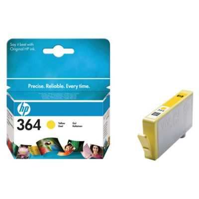 HP 364 Printer Ink Cartridge (smudge proof)- Yellow (CB320EE)