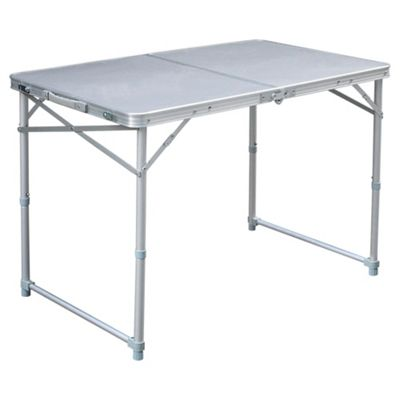 Tesco Double Folding Aluminium Camping Table