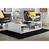 Alexis White/Black High Gloss And Glass Coffee Table