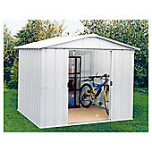 Yardmaster Silver Metal Apex Shed, 8x10ft