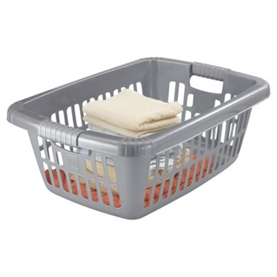Grey 40L Laundry Basket