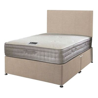 Happy Beds Bamboo Vitality 2000 Divan Bed Set No Drawer 2ft6 Cream