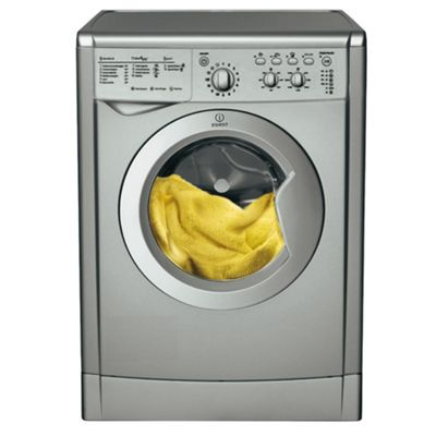 Indesit IWC6145S Washing Machine, 6kg Wash Load, 1400 RPM Spin, A Energy Rating. Silver