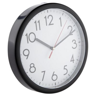 Basics Black Wall Clock