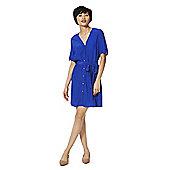 F&F Tie Waist Shirt Dress - Cobalt