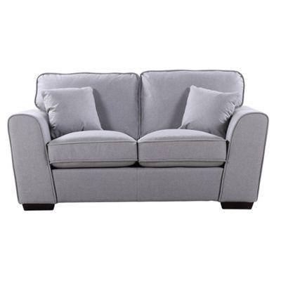 Sofa Collection Charleston Herringbone Fabric 2 Seat Sofa - Medium Grey