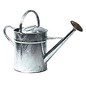 Ambassador Galvanised Watering Can - 9 Litres - With Brass Rose