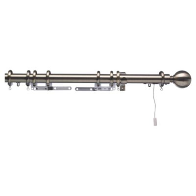 Swish Polaris 32mm Aluminium One-Corded Pole, Burnished Brass Effect 350cm
