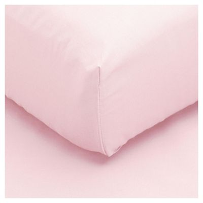 Tesco Single Fitted Sheet, New Pink