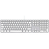 Apple MB110 CZE Apple Keyboard with Numeric Keypad - Czech USB White/Grey