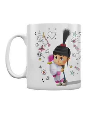 Despicable Me 3 Unicorn Doodle 10oz Ceramic Mug White
