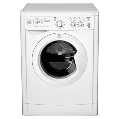 Indesit IWC6125W Washing Machine, 6kg Wash Load, 1200 RPM Spin, A Energy Rating. White