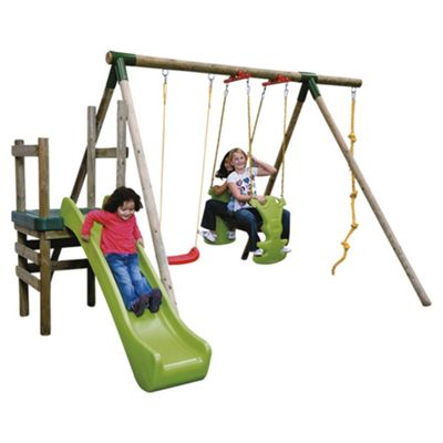 Little Tikes Strasbourg Wooden Slide 'n' Swing Set