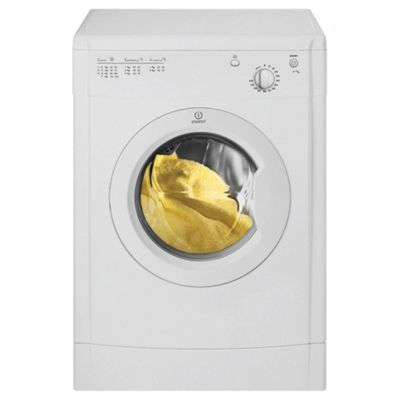 Indesit IDV65W Vented Tumble Dryer, 6kg Load, C Energy Rating. White