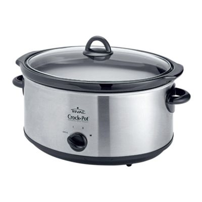 Crock-Pot Slow Cooker, 6.5L - Stainless Steel
