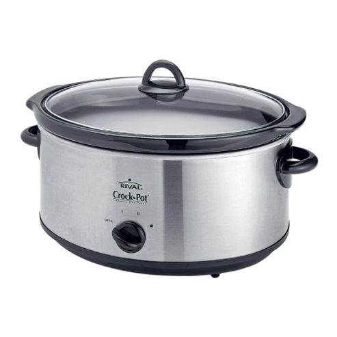 Crock-Pot Slow Cooker, 6.5L - Stainless Steel