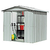 Yardmaster Silver Metal Apex Shed, 6x8ft