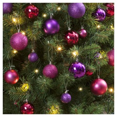 Christmas Baubles Pink And Purple 40 Pack