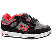 Vans Knightro Black/Charcoal/Red Kids Shoe MA3Y66 - Black
