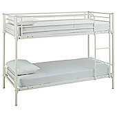 Mika Twin Metal Bunk Bed Frame, Vanilla