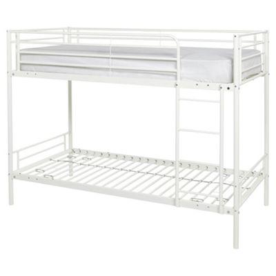 Mika Twin Metal Bunk Bed Frame, Vanilla