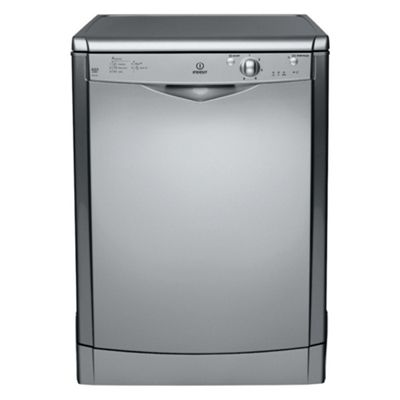 Indesit IDF125S Full Size Dishwasher, A Energy Rating. Silver