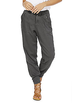 F&F Tencel® Tapered Trousers - Grey