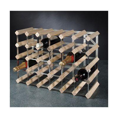 George Wilkinson 30 Bottle Wine rack Kit - Pine / Galvanised Steel