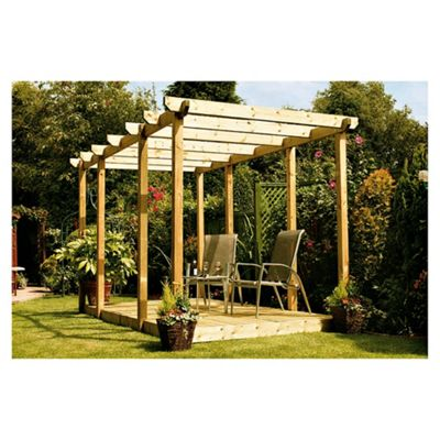 Finnlife Double Deck with Double Pergola