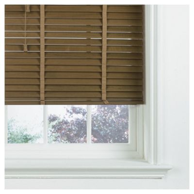 Sunflex Wood Venetian Blind Oak Effect 180cm 35mm slats 152cm drop