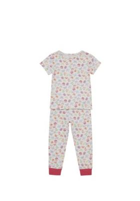 F&F Butterfly Print Pyjamas White Multi 3-4 years