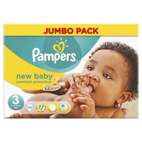 Pampers New Baby Jumbo Pack Midi 74