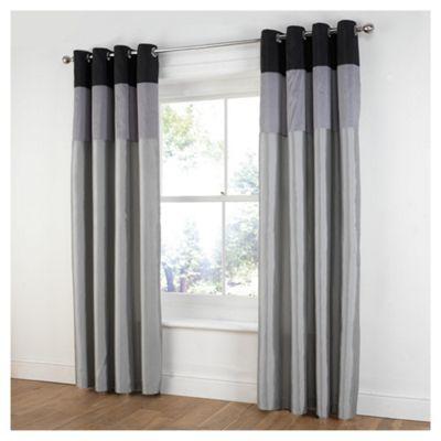 Tesco Treble Taffetta Lined Eyelet Curtains W163xL137cm (64x54