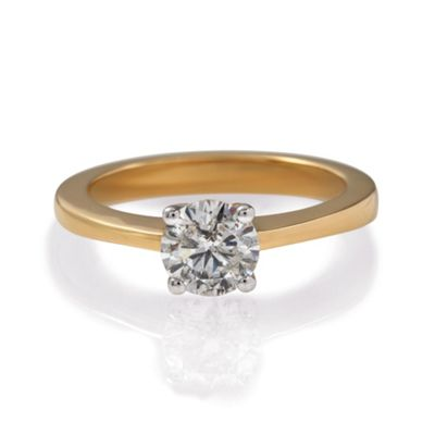 9ct Gold 1/4ct Diamond Solitaire Ring, N