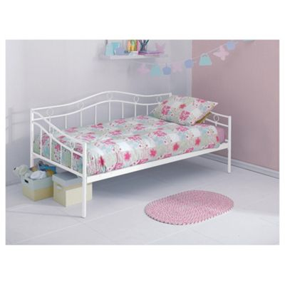 Paige Metal Day Bed, White