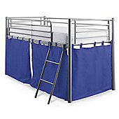 Mika Midsleeper Metal Bed Frame with Blue Tent