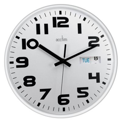 Acctim White Austin Calendar Clock