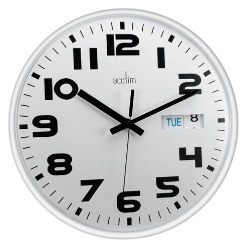 Acctim White Austin Calendar Clock