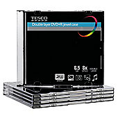 Tesco DVD+R Double Layer Disc jewel case - pack of 5