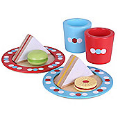 Bigjigs Toys Wooden Tea Time Play Set - Pretend Play and Role Play for Children