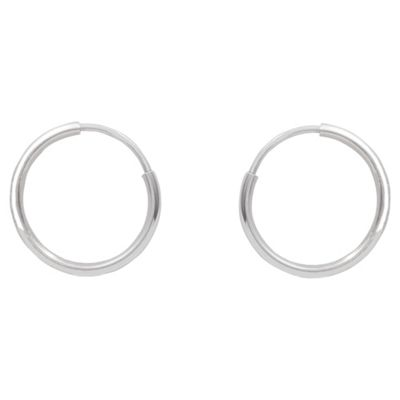 9ct White Gold Sleeper Earrings