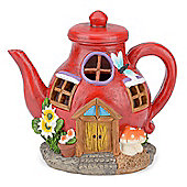 Christow Solar Powered Teapot Fairy House
