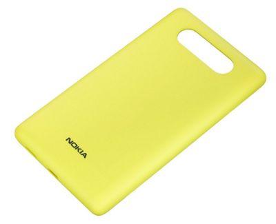 Nokia CC-3041 Wireless Charging Shell Case for Nokia Lumia 820 - Yellow