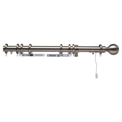 Swish Polaris 32mm Aluminium One-Corded Pole, Burnished Brass Effect 275cm
