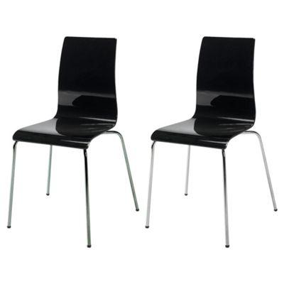 Pair of Padova chairs, black