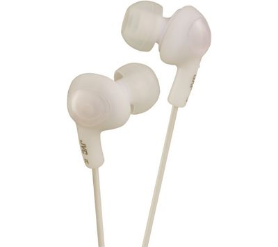 JVC Gumy Plus Noise Isolating Headphones Coconut White HAFX5WE