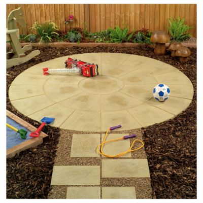 Oxford Mellow Buff Circle Patio Kit