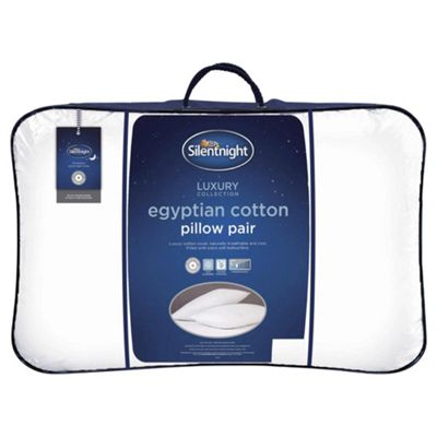 Silentnight Egyptian Cotton Pillow, 2 Pack