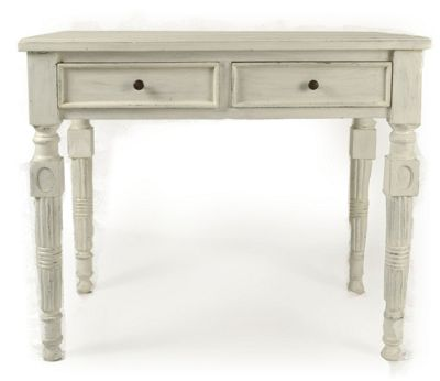 Papa Theo Hall Table in Antique White finish
