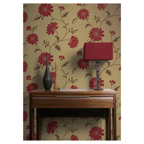 Arthouse Chelsea Red Wallpaper